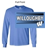Columbia Blue Long Sleeve T-Shirt (Adult and Youth)