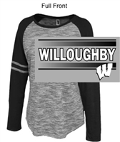 Grey with Black Ladies Cotton Polyester Crew (Ladies)