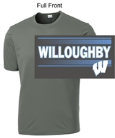 Grey Concrete Performance Tee - Short Sleeve (Youth and Adult)