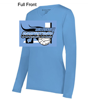 Columbia Blue Polyester Long Sleeve Shirt  (Ladies)