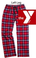 Navy and Red Plaid Flannel Pants (Adult and Youth)