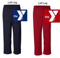 Open Bottom Sweatpants  (Adult and Youth)