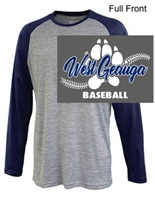 Grey with Navy Performance Long Sleeve (Adult and Youth)