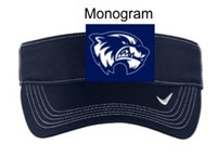 Navy Polyester Twill Nike Visor (One Size)