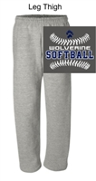 Sport Grey Open Bottom Sweatpants with Pocket (Adult) NO pocket (Youth)