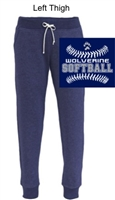 Navy Fleece Jogger Sweatpants (Ladies)