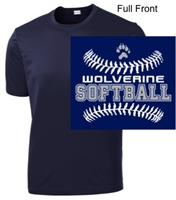 Navy Performance Tee - Short Sleeve (Youth and Adult)