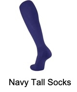 Navy Tall Socks (Adult and Youth)
