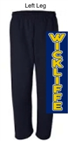 Navy Open Bottom Sweatpants with Pocket (Adult) NO Pocket (Youth)