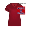 Red Soft Performance V-Neck Shirt - Short Sleeve (Ladies)