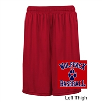 Red Polyester Shorts with Pockets (Adult and Youth)