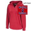 Red Terry Fleece Hoodie (Ladies)