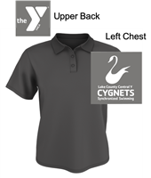 Charcoal Polyester Polo (Adult and Ladies)