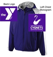 Purple and White Water-Resistant Jacket (Adult)