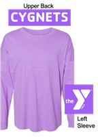Lilac Long Sleeve Jersey T-Shirt (Adult and Youth)