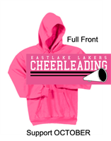 Neon Pink Hooded Sweatshirt (Adult)