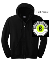 Black Full-Zip Hooded Sweatshirt (Adult)