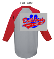 Athletic Heather with Red 50/50 Baseball Style Jersey (Adult and Youth)