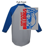 Athletic Heather with Royal 50/50 Baseball Style Jersey (Adult and Youth)