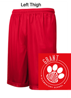 Red Mesh Performance Shorts with Pockets (Adult and Youth)
