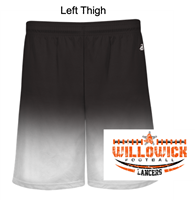 Black Ombre Performance Shorts (Adult and Youth)