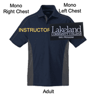 Navy with Carbon Short Sleeve Polyester Polo (Adult and Ladies)
