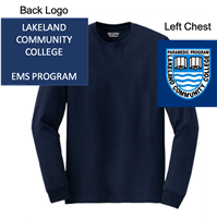 Navy Long Sleeve T-Shirt (Adult)
