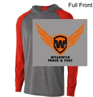 Graphite Heather Orange  Performance Hoodie (Adult and Ladies)