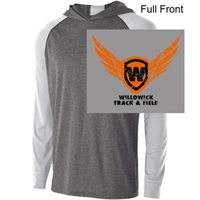 Graphite Heather White Performance Hoodie (Adult and Ladies)