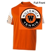 Orange and White Performance Long Sleeve Shirt  (Adult and Youth)