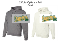 Cotton and Polyester Hooded Sweatshirt - Screen Logo  (Adult and Youth)