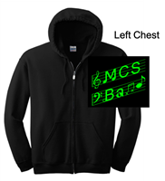 Black Full Zipper Hooded Jacket (Adult and Youth)