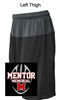 Black and Grey Performance Shorts with Pockets (Youth and Adult)