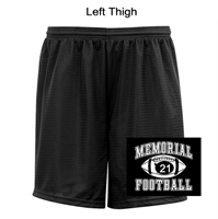 "Black Mesh Tricot 9"" Shorts (Adult)"