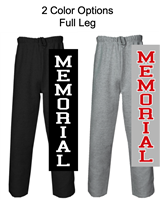 Open Bottom Fleece Sweatpants with Pockets (Adult and Youth))