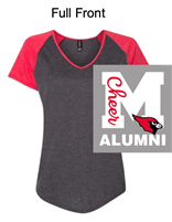 Heather Grey with Red Raglan Triblend Short Sleeve T-Shirt (Adult)
