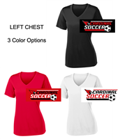 Ladies Performance V-Neck Tee - Short Sleeve (Ladies)