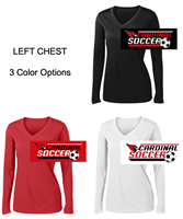 Ladies Performance V-Neck Tee - Long Sleeve (Ladies)