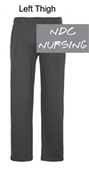 Charcoal Open Bottom Sweatpants with Pocket (Adult)