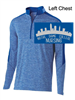 Royal Heather/Royal Polyester 1/2 Zipper Pullover (Adult and Ladies)