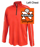 Orange Polyester Performance 1/4 Zipper (Adult and Ladies)