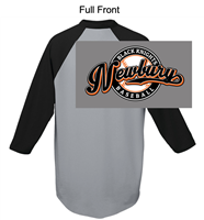 Athletic Heather with Black 50/50 Baseball Style Jersey (Adult and Youth)