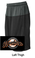 Black with Graphite Performance Shorts with Pockets  (Adult and Youth)