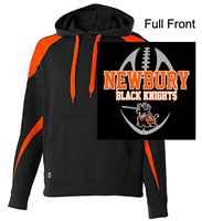 Black and Orange Cotton Polyester Hooded Sweatshirt (Adult)