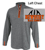 Heather Grey and Orange 1/4 Zipper (Adult)