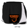 Black and White Polyester Speed Shorts (Ladies)