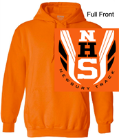 Orange Hooded Sweatshirt (Adult and Youth)