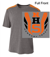 Heather Grey and Orange Performance Short Sleeve Shirt (Adult and Youth)