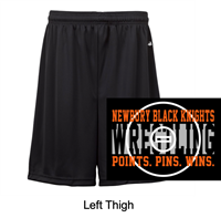 "Black Performance Shorts Adult 9"" and Youth 6"" (Adult and Youth)"