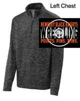 Black Heather 1/4 Zipper Fleece Sweatshirt (Adult)